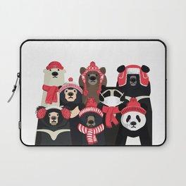 Bear family portrait: winter edition Laptop Sleeve