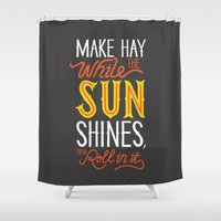 sunshine Shower Curtains featuring Sunshine by Wharton