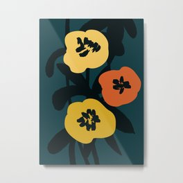 Midnight Flowers Metal Print