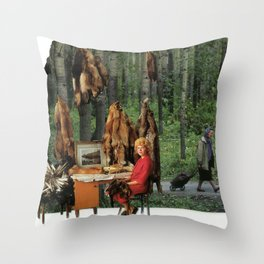 Outside office Throw Pillow