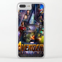 Infinity War Poster Clear iPhone Case
