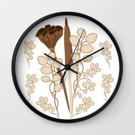 Seeds and Pods Wall Clock