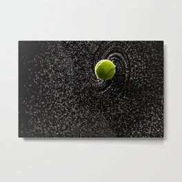 Spin Serve     Tennis Ball Metal Print