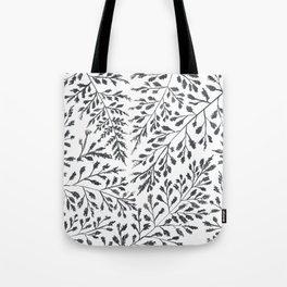Black Leaves Tote Bag