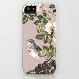 Birds and the Bees Pink Berry iPhone Case
