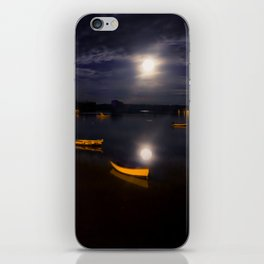 Full moon on Biscay Bay iPhone Skin