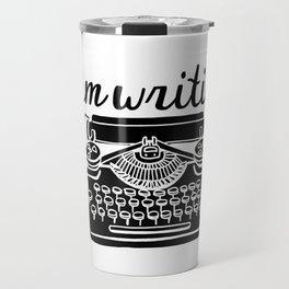 #AmWriting Typewriter Travel Mug