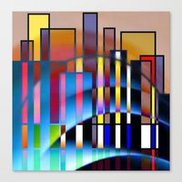 seattle Canvas Prints featuring Seattle by Kristine Rae Hanning
