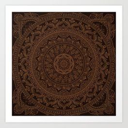 Mandala Dark Chocolate Kunstdrucke