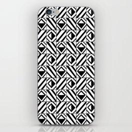 symetric tartan and gingham 8 -vichy, gingham,strip,square,geometric, sober,tartan iPhone Skin