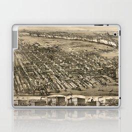 Map Of Hoboken 1881 Laptop & iPad Skin