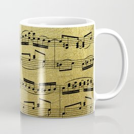 Notes on Gold One Solace Coffee Mug