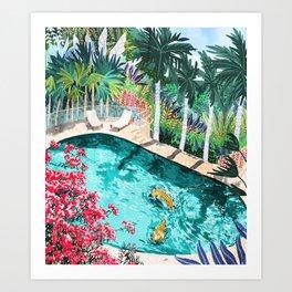 Luxury Villa #illustration #painting Art Print