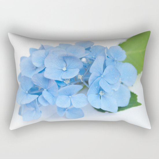 Blue Hydrangeas #1 #decor #art #society6 Rectangular Pillow