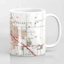 Vintage Map of Las Vegas Nevada (1952) Coffee Mug
