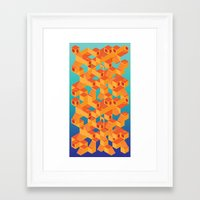 escher Framed Art Prints featuring Escher cube by Tony Vazquez