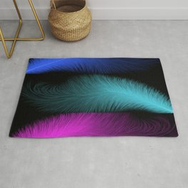 Abstract feathers Rug