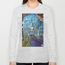 Hogwarts stained glass style Long Sleeve T-shirt