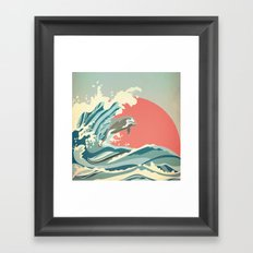 dolphin happiness Framed Art Print