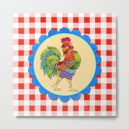 Rise and Shine Rooster Metal Print