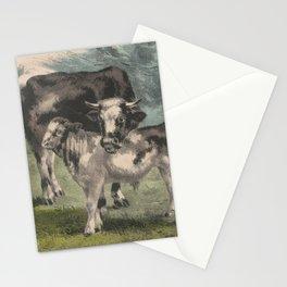 Vintage Cattle Farm Illustration (1856) Stationery Cards