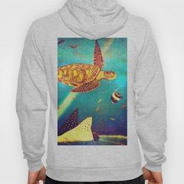 Beautiful Sea Turtles Under The Ocean Painting Hoody
