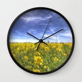 Yellow Fields Of Summer Wall Clock