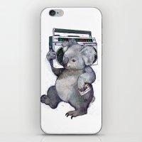 koala iPhone & iPod Skins featuring koala  by Laura Graves