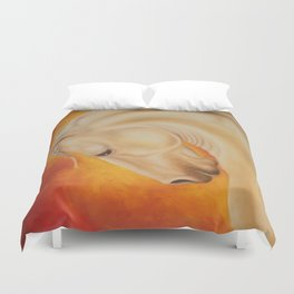 Fire Lusitano Horse oil Painting Duvet Cover