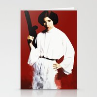 princess leia Stationery Cards featuring Princess Leia by Ms. Givens