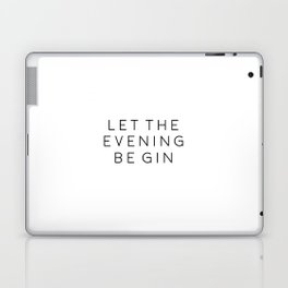 HOME BAR DECOR, Let The Evening Be Gin,Funny Bar Decor,Alcohol Sign,Drink Sign,Bar Wall Art,Gin And Laptop & iPad Skin