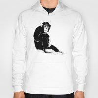 monkey Hoodies featuring Monkey by takmaj