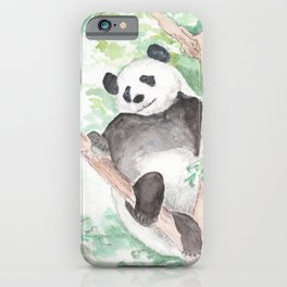 Panda, Hanging Out iPhone Case