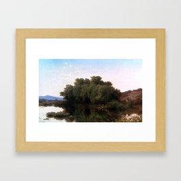 Albert Fitch Bellows ,The River Bank Framed Art Print