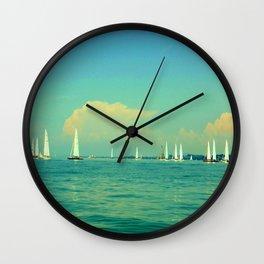 Sailing on Lake Constance Wall Clock