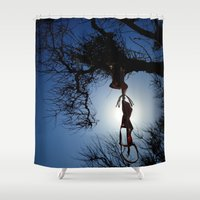 bikini Shower Curtains featuring bikini by habish