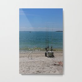 Searching on Sanibel Metal Print
