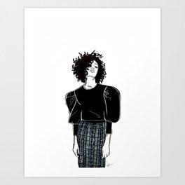 The sequin skirt Art Print