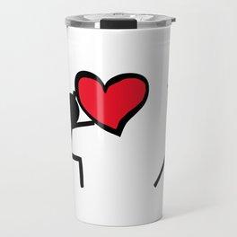 I love you by Oliver Henggeler Travel Mug