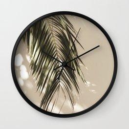 Palm Leaf Shadow Summer Wall Clock