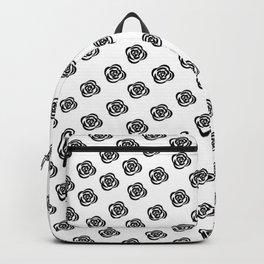 Black and White Rose Design Backpack