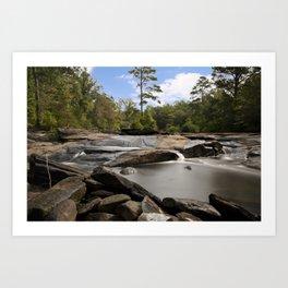 Hidden Rocky River Art Print