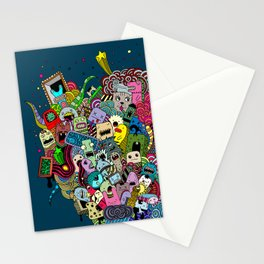 Hand-drawn little funny monsters Stationery Cards