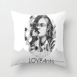 love dots Throw Pillow
