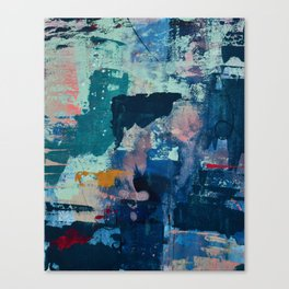 The Peace of Wild Things: a vibrant abstract piece in a variety of colors by Alyssa Hamilton Art Canvas Print