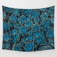 succulents Wall Tapestries featuring Succulents by Kim Bajorek