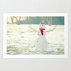 But Snowmen Can't Talk Art Print