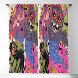 batty, catty and fishy(?!) for Halloween! Blackout Curtain