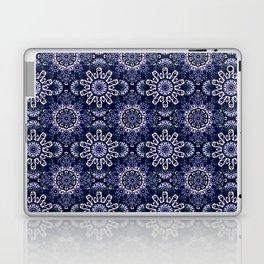 Blue Mandala Pattern Design Laptop & iPad Skin