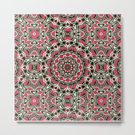 Colorful ethnic ornament . Metal Print